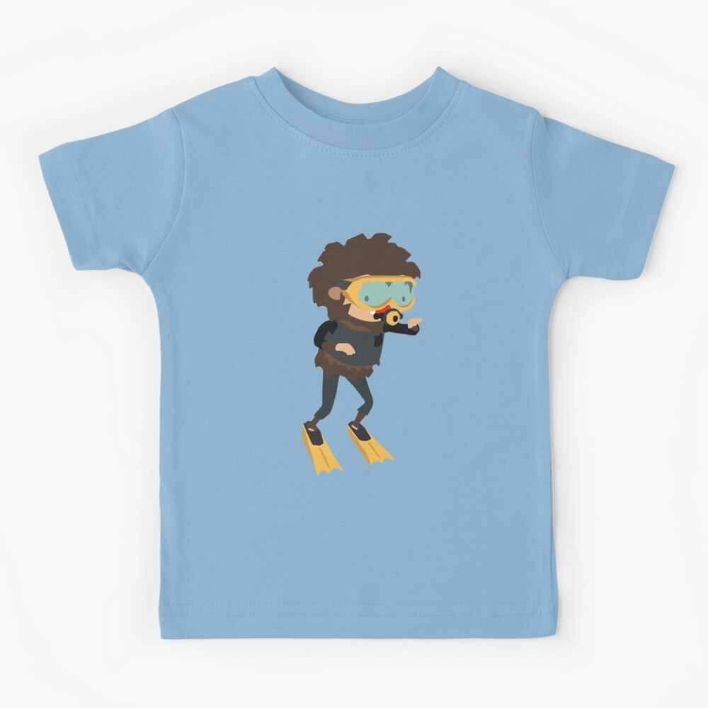 Gaming Gift Sneaky Sasquatch Tropical Scuba Diving Kids T-Shirt