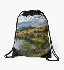 Countryside in the Scottish Borders area Drawstring Bag