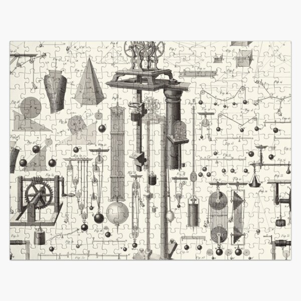 Vintage Science and Engineering Poster Jigsaw Puzzle