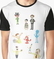 Rick and Morty Random Characters Graphic T-Shirt