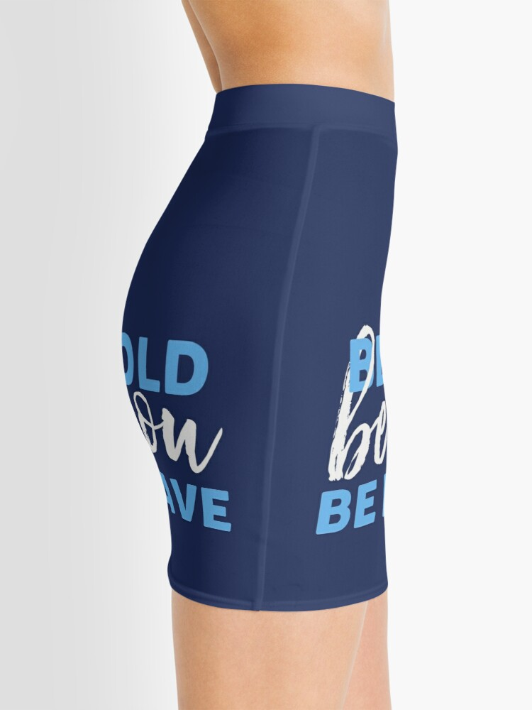 Alternate view of Be Bold Be Brave Be You Inspirational Typography Mini Skirt