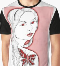 Girl with butterfly tattoo Graphic T-Shirt