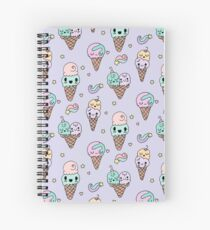 CUTE ICE ICE CREAM Spiral Notebook