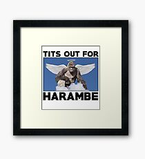 Tits out for HARAMBE   Framed Print