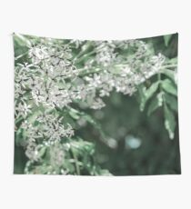 Nature in white and green Wall Tapestry