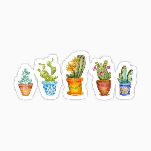 cactus line. watercolor Sticker