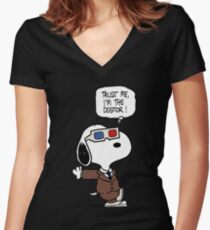 The Dogtor Women's Fitted V-Neck T-Shirt