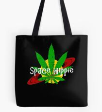 Space Hippie Distressed Version Tote Bag