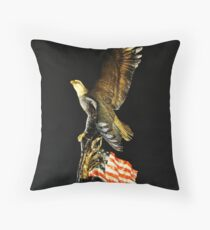 Land of the Free Home of the Brave Throw Pillow