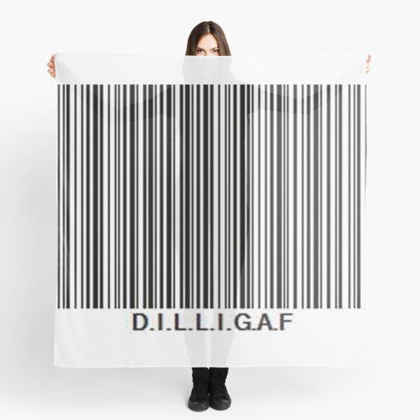 d.i.l.l.i.g.a.f barcode Scarf