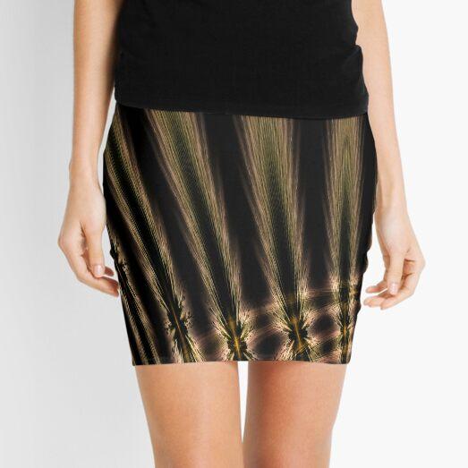 Abstract grain Mini Skirt
