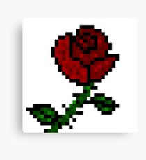 Pixel Rose Canvas Print