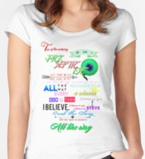 All the Way Jacksepticeye lyrics Women's Fitted Scoop T-Shirt
