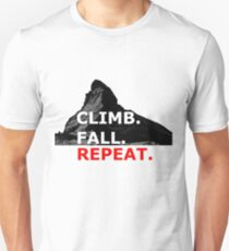 Climb. Fall. Repeat Unisex T-Shirt