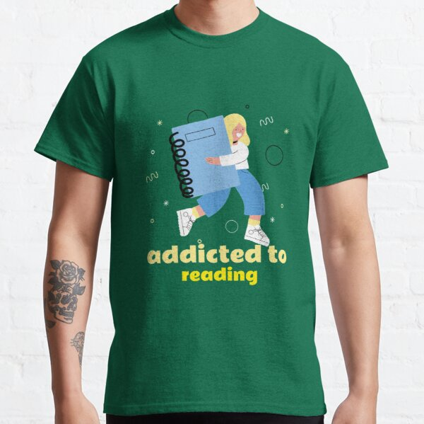 süchtig nach lesen,süchtig,lesen Classic T-Shirt