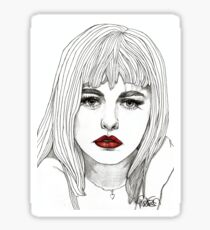 Patsy with Red Lips Sticker