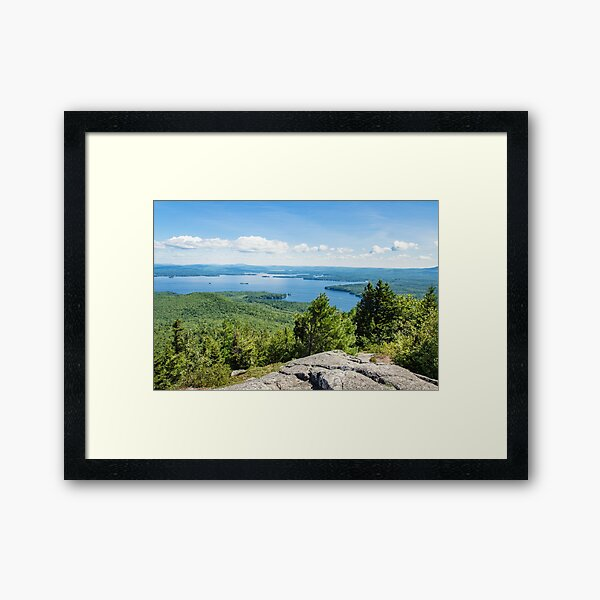 Idyllic Lake Winnipesaukee Framed Art Print