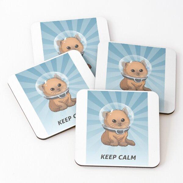 keep calm kitty, keep calm, subnautica, calm, hemmm, keep calm kitty subnautica Coasters (Set of 4)