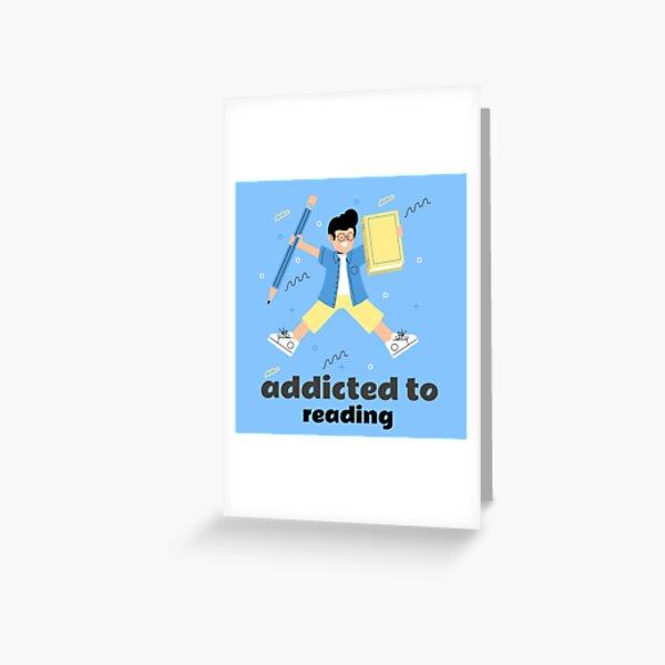 süchtig nach lesen,süchtig,lesen Grußkarte