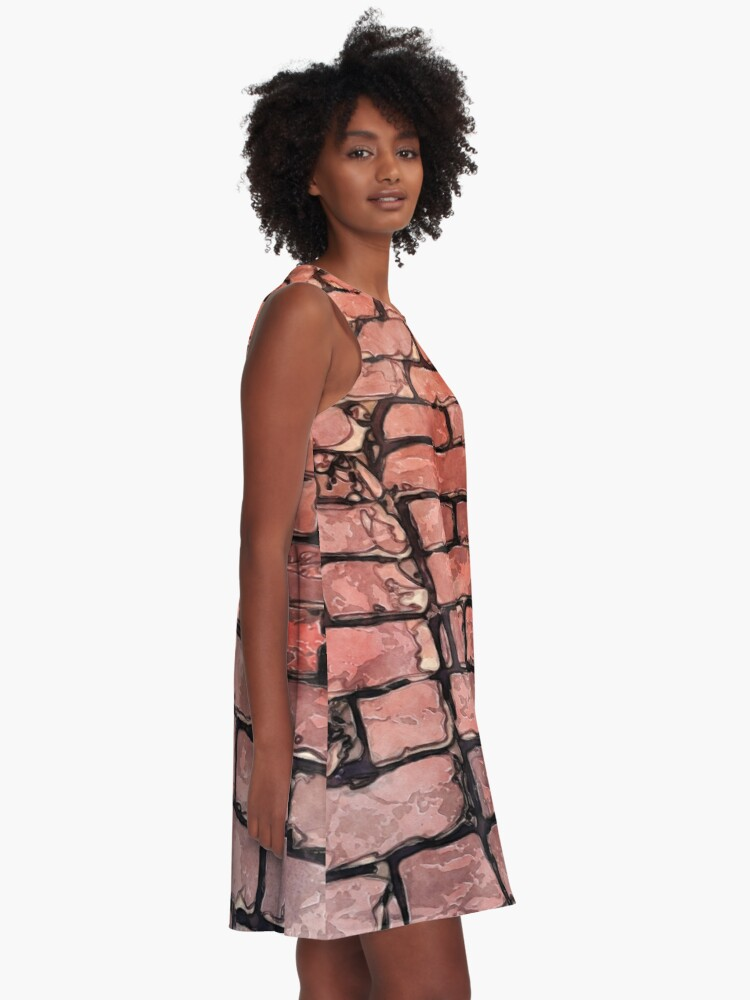 Alternate view of Vintage Brick Street A-Line Dress