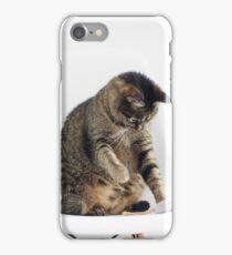 Cute Cat Playing iPhone Case/Skin