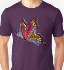 Colorful Abstract Butterfly Art T-Shirt