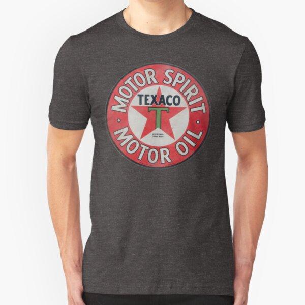 Vintage Texaco Motor Spirit Logo  Slim Fit T-Shirt