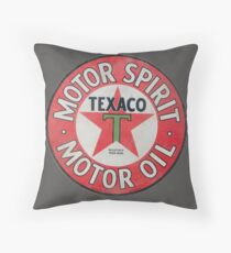 Vintage Texaco Motor Spirit Logo  Throw Pillow