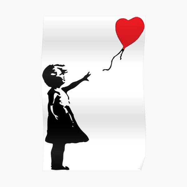 heart shaped balloon Poster