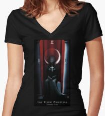 The High Priestess Vanessa Ives Women's Fitted V-Neck T-Shirt