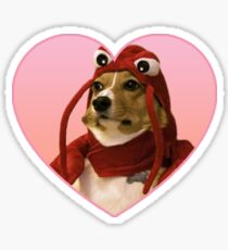 Doggo Stickers: Lobster Corgi (Pink) Sticker