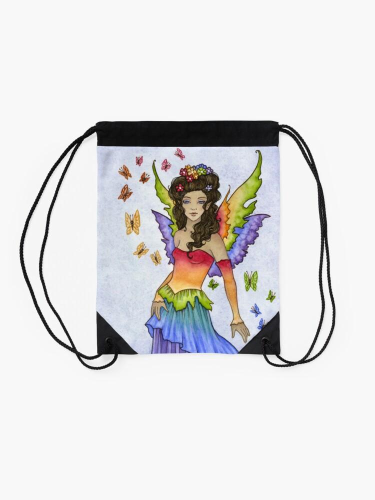 Alternate view of Flutter Drawstring Bag