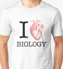 I Love Heart Biology T Shirt - Love Science  T-Shirt