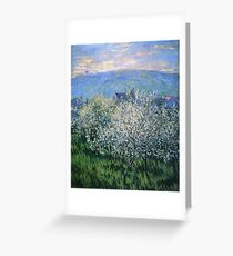 Claude Monet - Plums Blossom Greeting Card