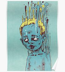 The Blue Boy with the Golden Hair Poster