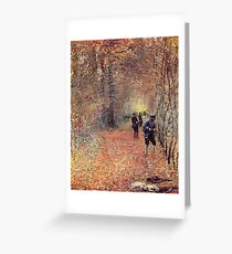 Claude Monet - The Shoot 1876 Greeting Card