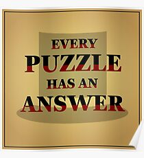 """Professor Layton - """"Every Puzzle has an Answer"""" Poster"""