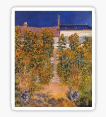 Claude Monet - The Artist S Garden At Vetheuil Sticker