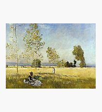 Claude Monet - Meadow At Bezons Photographic Print