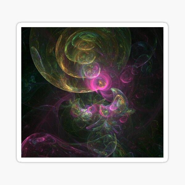 Interplanetary Colors - Abstract Digital Art  Sticker