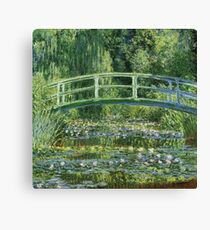 Claude Monet - The Japanese Bridge The Water Lily Pond Canvas Print