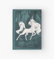 White Unicorn in the Woods Hardcover Journal