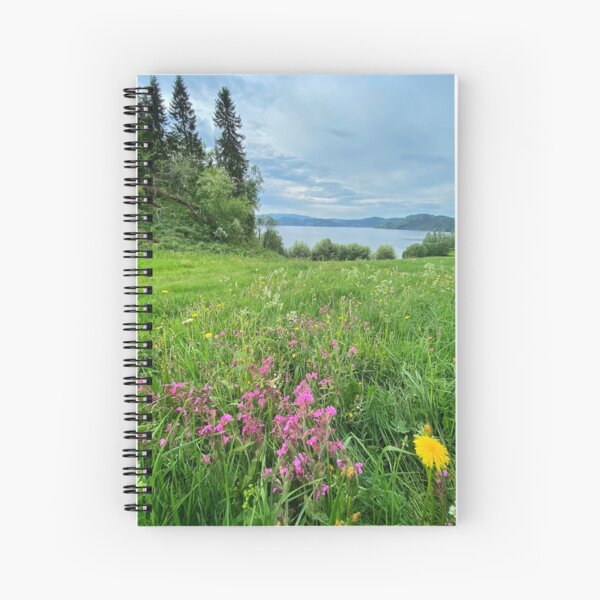 Fields by the Fjord Spiral Notebook