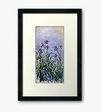Claude Monet - Iris Mauves  Framed Print