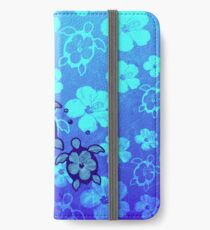 3 Hawaii Honu und Hibiskus iPhone Flip-Case/Hülle/Skin