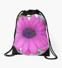 Violet Pink Osteospermum Flower Daisy Drawstring Bag