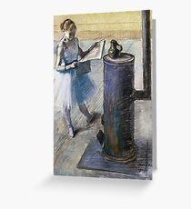 Edgar Degas - Dancer Resting Greeting Card