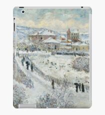 Claude Monet - View Of Argenteuil In The Snow iPad Case/Skin