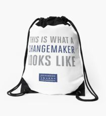 This is What a Changemaker Looks Like Drawstring Bag