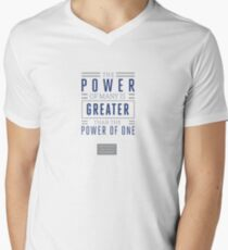 The Power of Many is Greater than the Power of One- Belief Statement Men's V-Neck T-Shirt